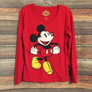 Disney Mickey Mouse red long sleeve top